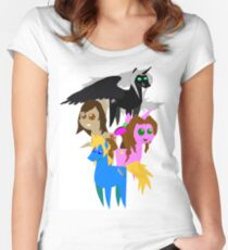 FFVII Cast (In BBBFF Version Of MLP) Women's Fitted Scoop T-Shirt