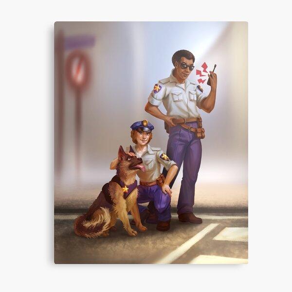 Rescue City Cops Metal Print
