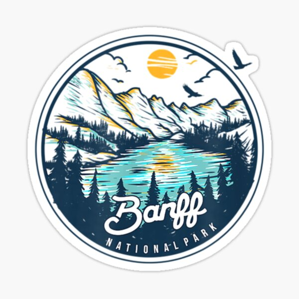 Banff National Park for Hiking in Alberta Canada Sticker