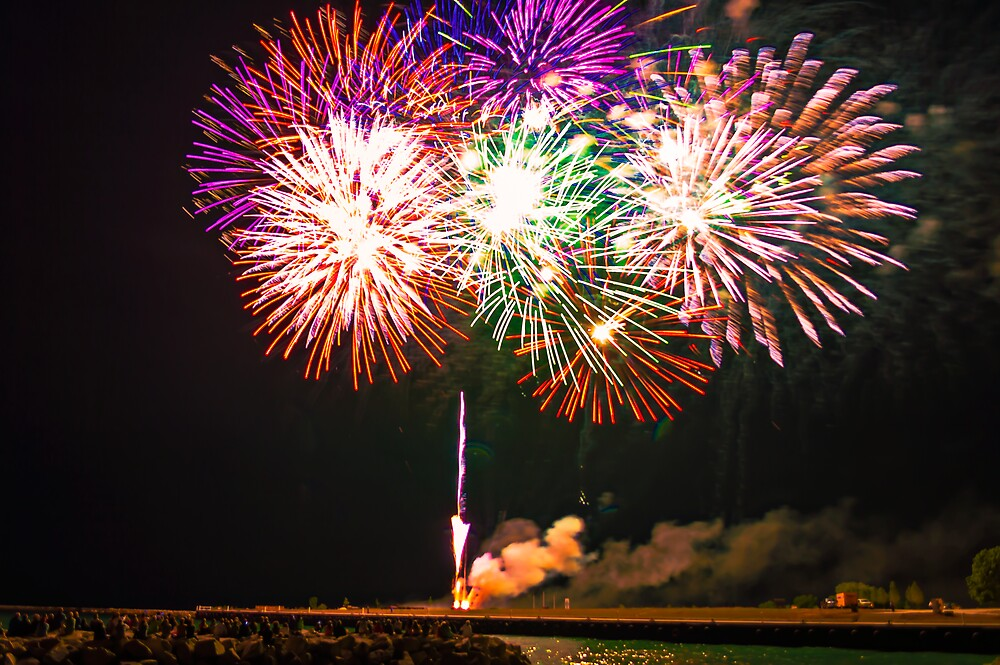 Fish Day Fireworks by James Meyer