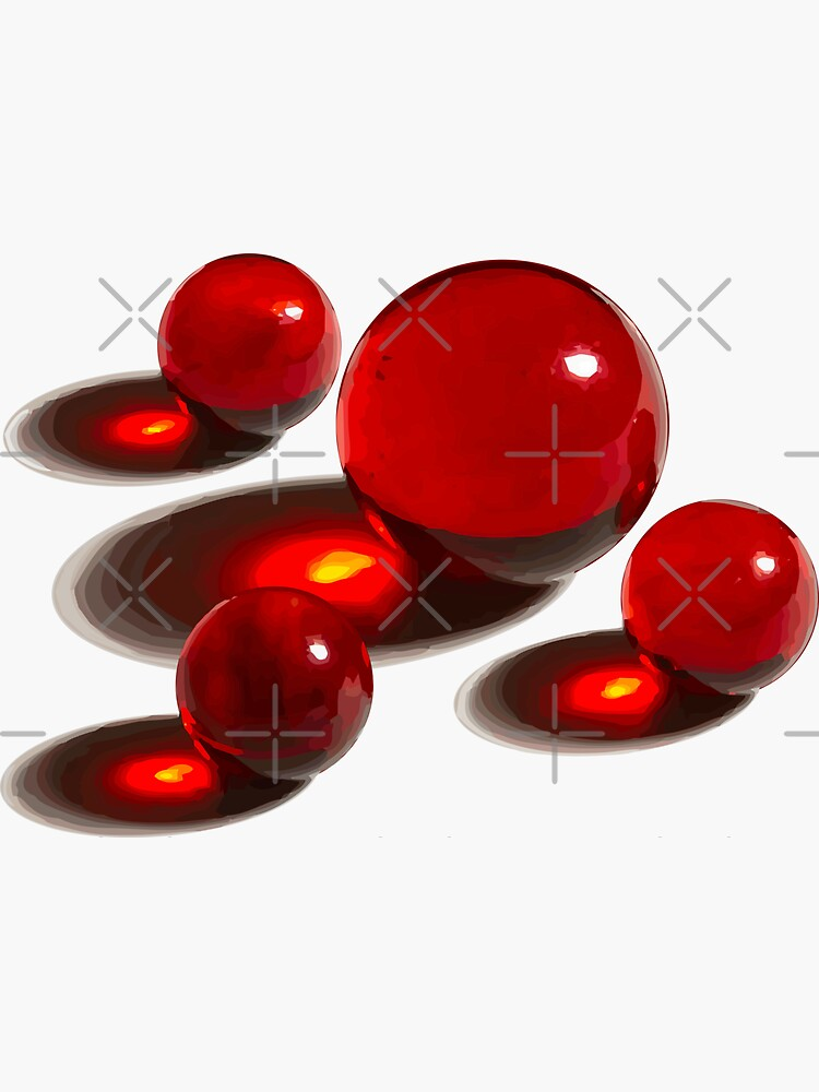 Four Red Marbles by stickysterscom