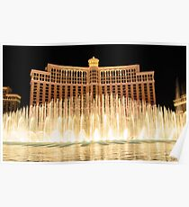 The fountains at Bellagio Poster