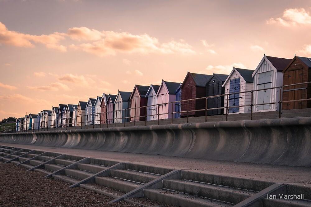 Beach Huts at Felixstowe by Ian Marshall