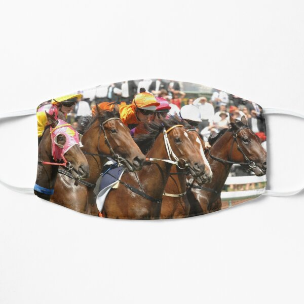 Horse racing action 8 Mask