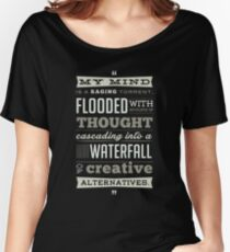 Funny Classic Movie Quote typography from Blazing Saddles by Harvey Korman Women's Relaxed Fit T-Shirt