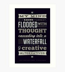 Funny Classic Movie Quote typography from Blazing Saddles by Harvey Korman Art Print