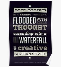 Funny Classic Movie Quote typography from Blazing Saddles by Harvey Korman Poster