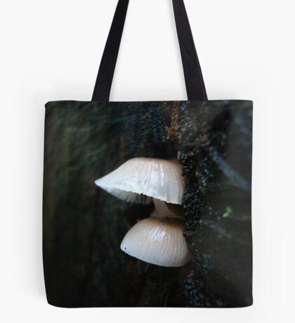 LITTLE CLOCHES ON THE BIG OAK STUMP Tote Bag