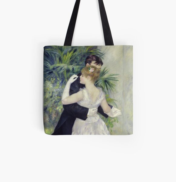 Auguste Renoir - Dance In The City All Over Print Tote Bag