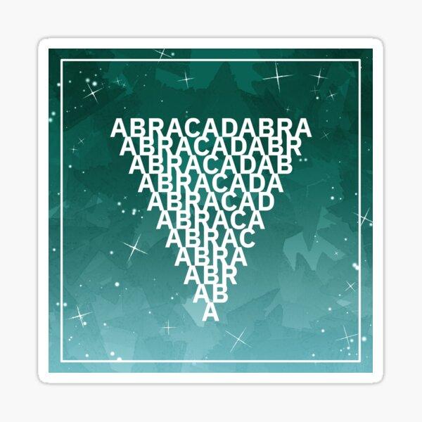 ABRACADABRA Magisches Dreieck Grün Sticker