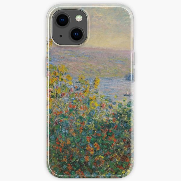 Claude Monet - Flower Beds At Vetheuil 1881 iPhone Soft Case