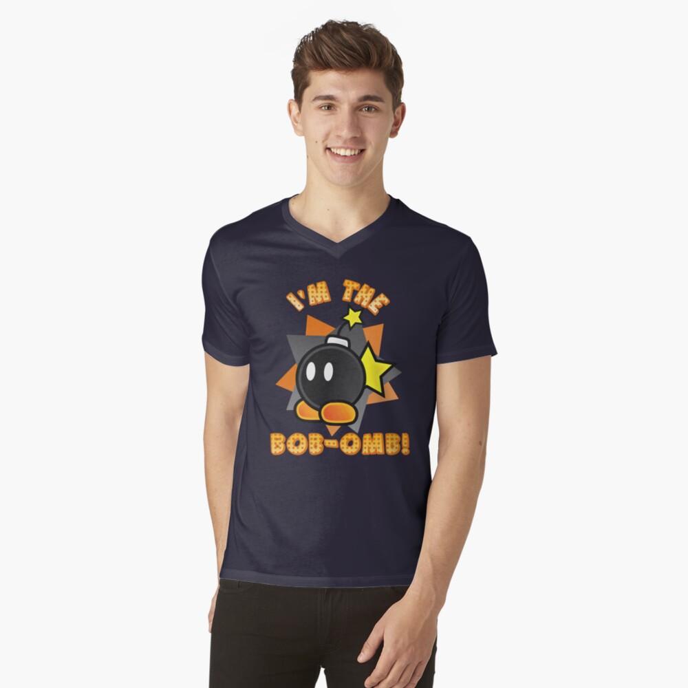 I'm the Bob-omb! Super Mario Mens V-Neck T-Shirt Front
