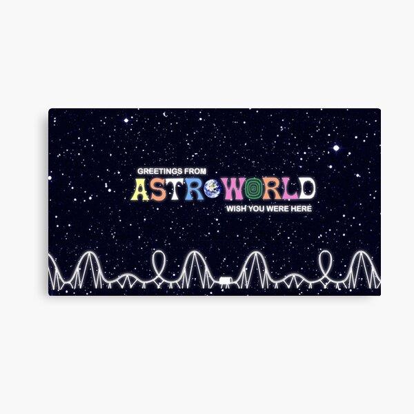 astroworld aesthetic Canvas Print
