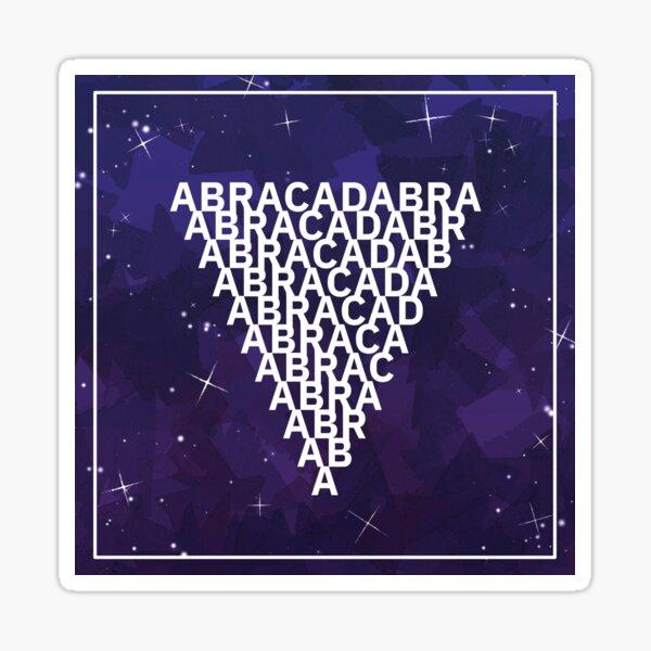 ABRACADABRA Magisches Dreieck Blau Sticker