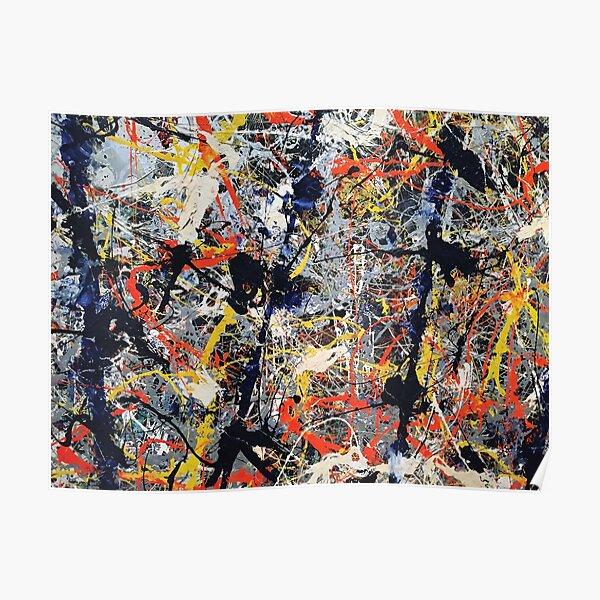 Jackson Pollack - Bâtons bleus Poster