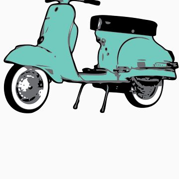 Turquoise Vespa Sprint by johnvikias
