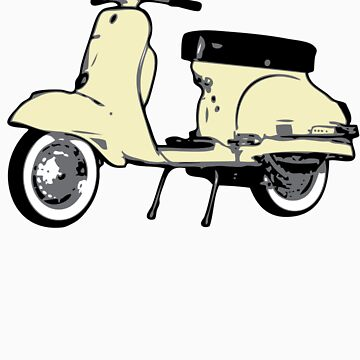 Cream White Vespa Sprint by johnvikias
