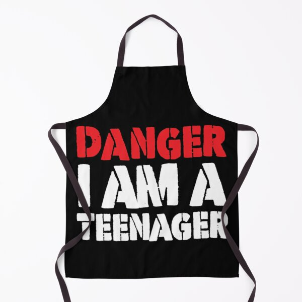 Danger I am a Teenager - Funny 13th Birthday Gift Apron