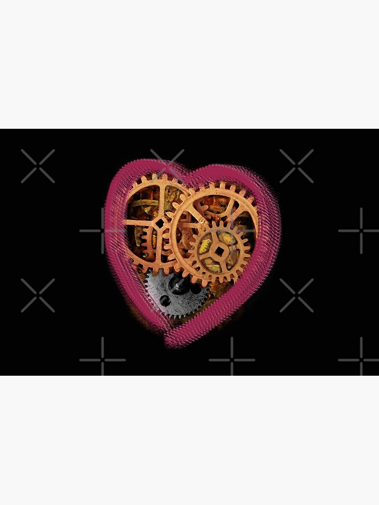 Cog and heart by jennyjeffries