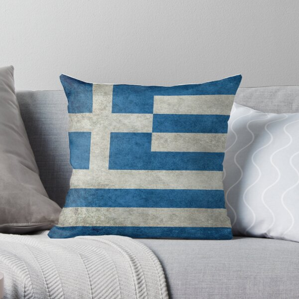 Greece Greek National Flag Pillow Cushion Cover Case Room Gift Country Athens
