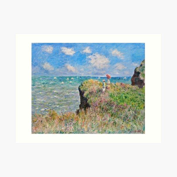Claude Monet - Cliff Walk bei Pourville (1882) Kunstdruck