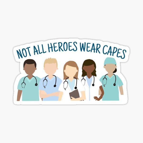 Héroes sanitarios Pegatina