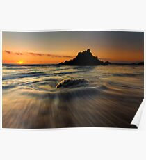 Fogarty Creek Sunset Poster