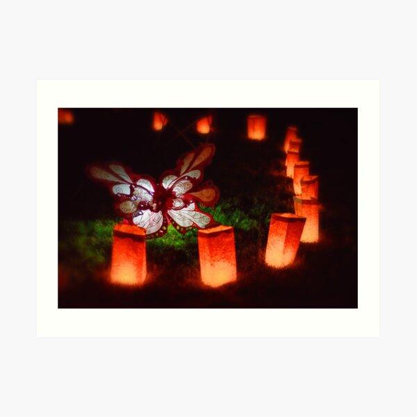 Butterfly Illuminare Art Print