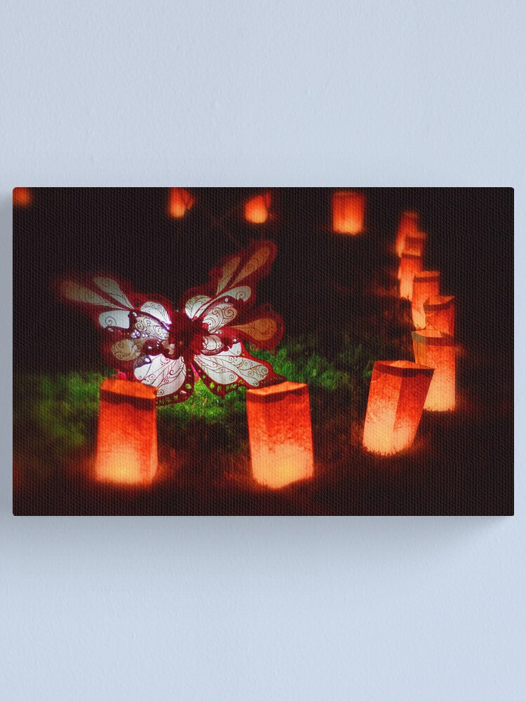 Alternate view of Butterfly Illuminare Canvas Print