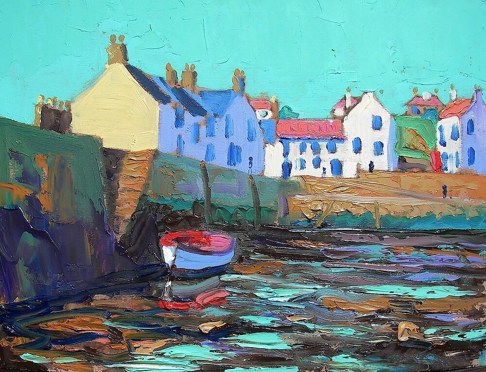 Low Tide at Cellardyke by RD Forsyth