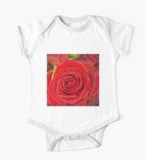 Love is a red rose One Piece - Short Sleeve