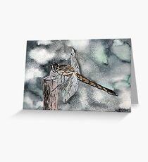 Dragonfly modern art print Greeting Card