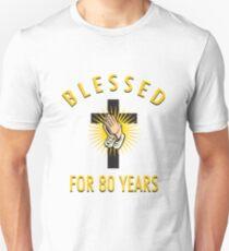 Religious 80th Birthday Gift Unisex T-Shirt