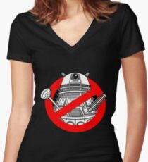 Timebusters Women's Fitted V-Neck T-Shirt