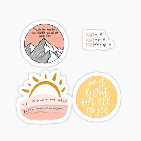 Pack of 4 Sticker