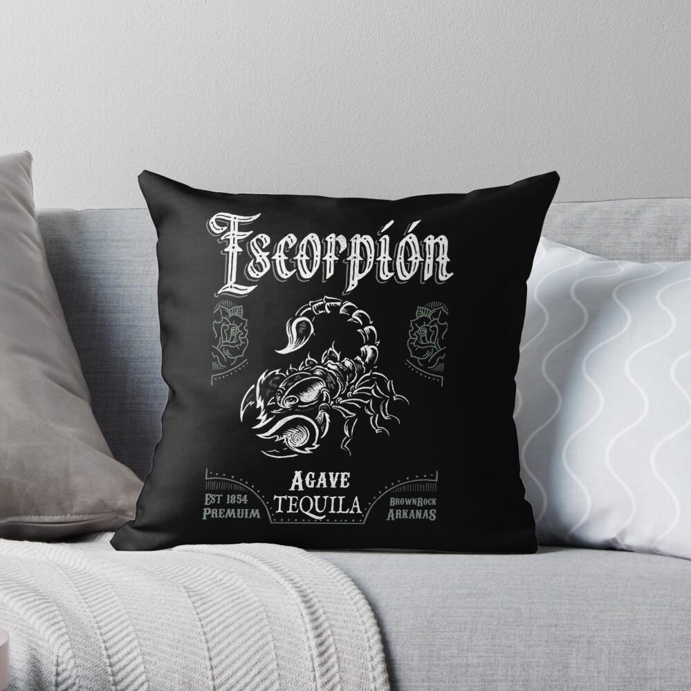 Escorpion Premium Tequila Throw Pillow