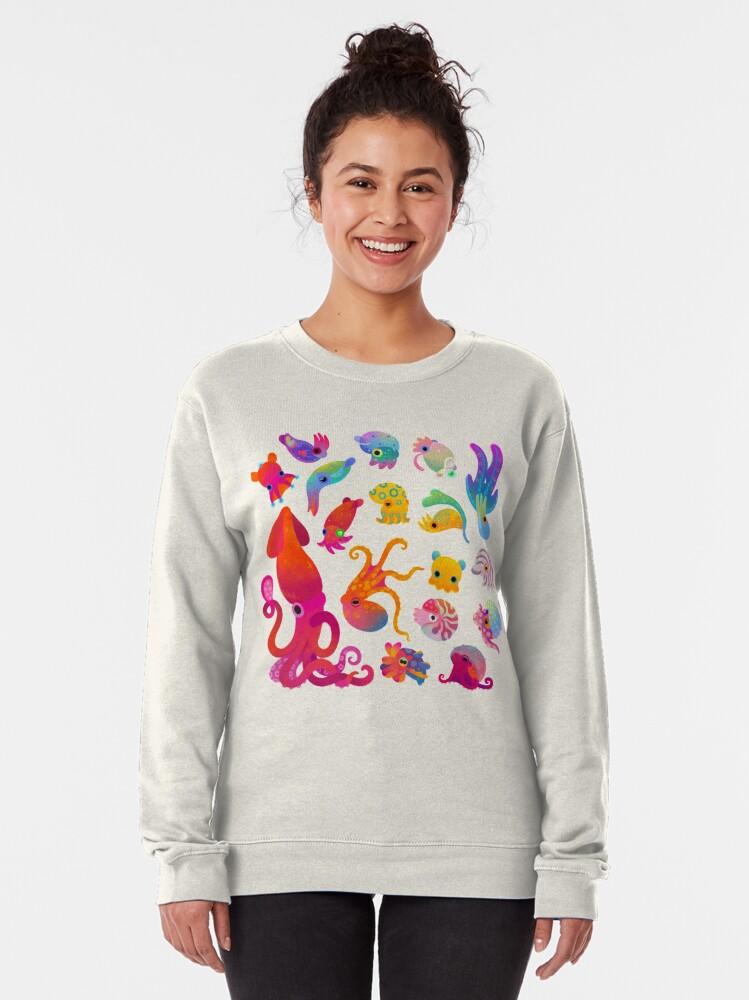 Alternate view of Cephalopod - pastel Pullover Sweatshirt