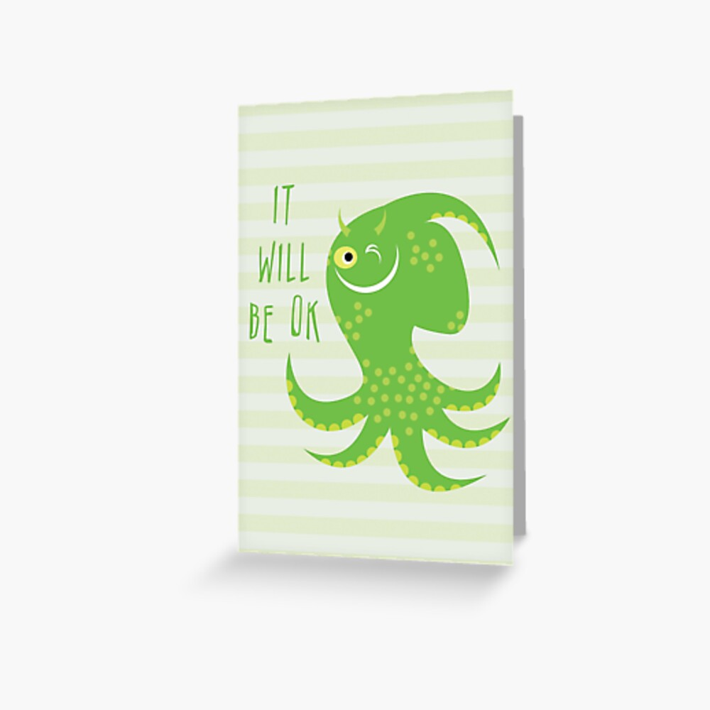 Squid of Reassurance Greeting Card