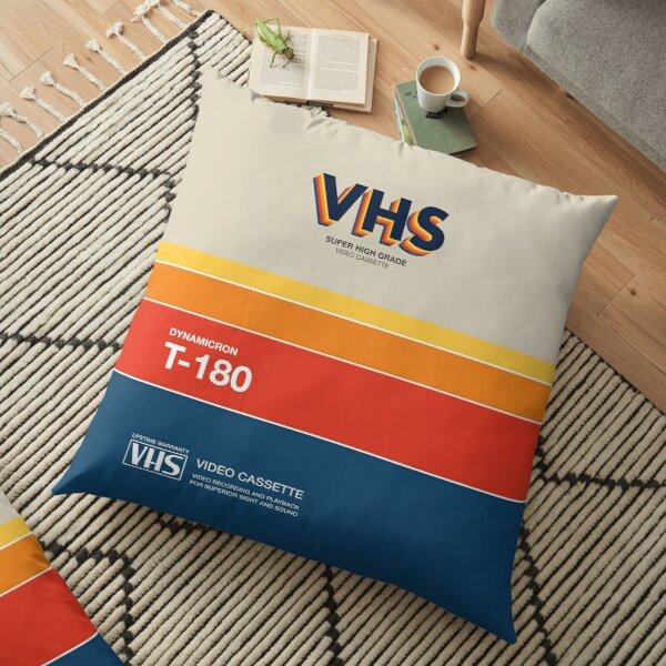 VHS Videotape Cassette Case Retro Floor Pillow