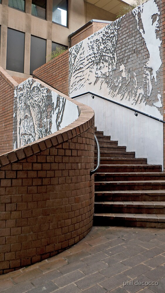 Jack Mundey Place Stairway by phil decocco