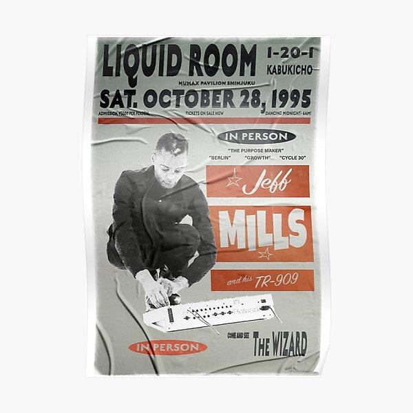 Jeff Mills Live at the Liquid Rooms Cartel retro Póster