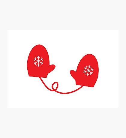 Little Red Mittens Photographic Print