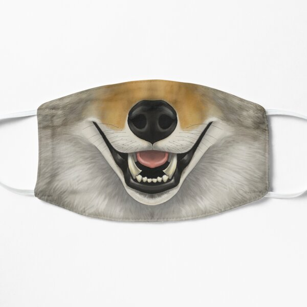Coyote Face Flat Mask
