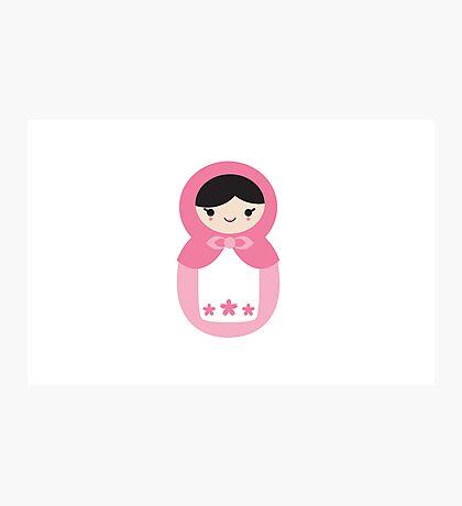 Matryoskha Doll - Bubblegum Pink Photographic Print
