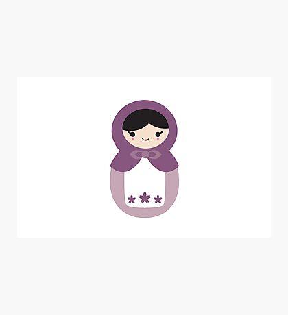 Matryoskha Doll - Grape Juice Purple Photographic Print