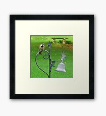 Henry The Black Throated Sparrow Framed Print
