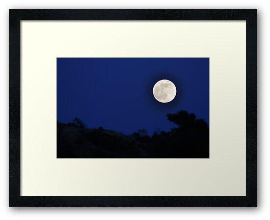 Super Moon O'er Sibley Volcanic by Bob Moore