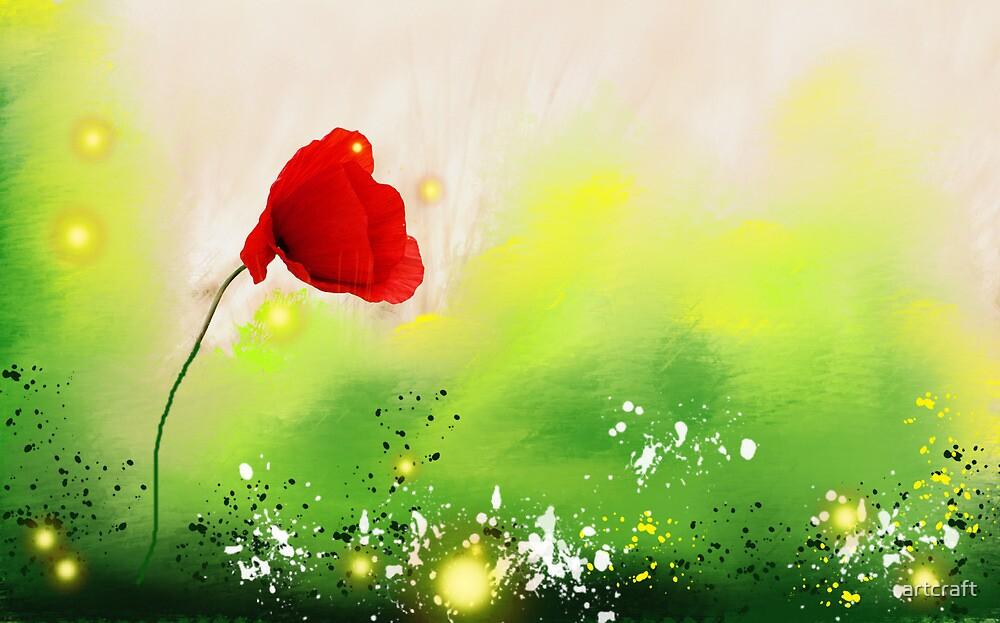 Red - Flower  by artcraft