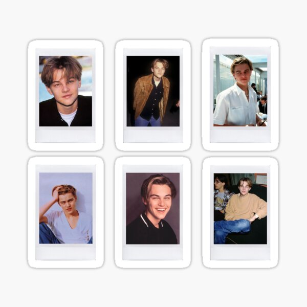 Young Leonardo DiCaprio Polaroids Sticker