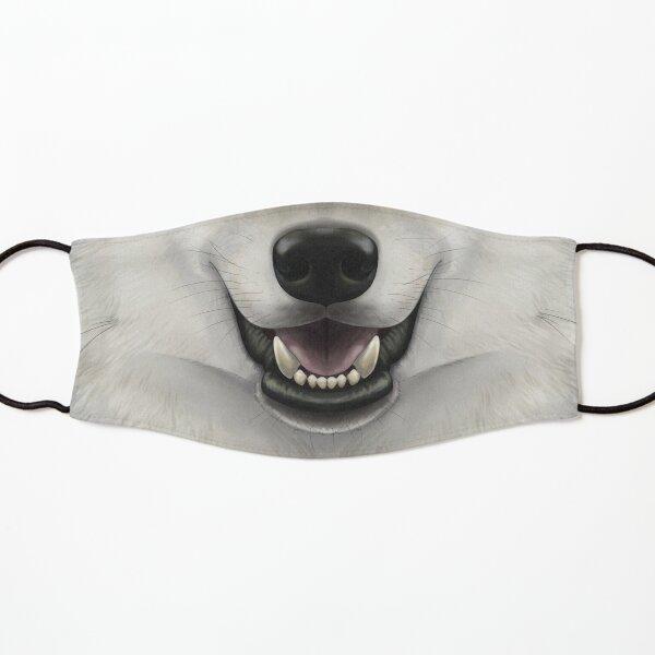 Gray Wolf Face Kids Mask